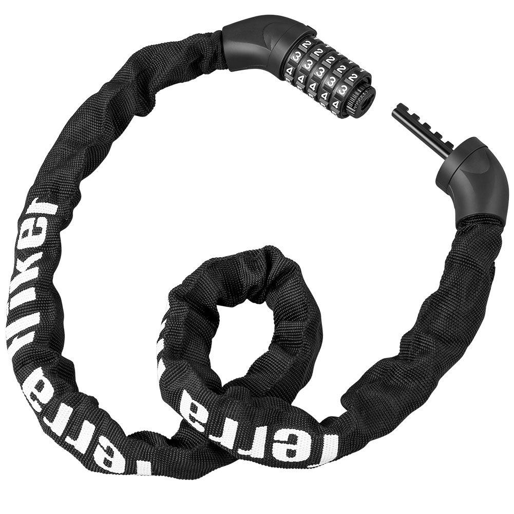 438f636a1c Terra Hiker 自転車ロック 5桁 全長100cm ケーブルロック パスワード自由設定 スチールロック チェーンロック バイク用 ブラック