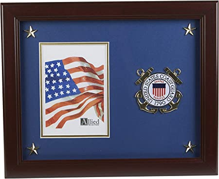 Allied Frame Us Coast Guard Medallion Portrait Picture Frame With Stars 5 X 7 Inch Amazon Co Uk Kitchen Home