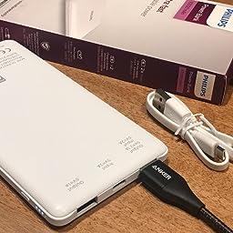 Amazon Co Jp カスタマーレビュー フィリップス Philips モバイルバッテリー mah 大容量 軽量 薄型 急速充電 Type C 残量表示 Pseマーク認証取得 スマホ タブレット Iphone Galaxy Xperia Dlp6712n ブラック