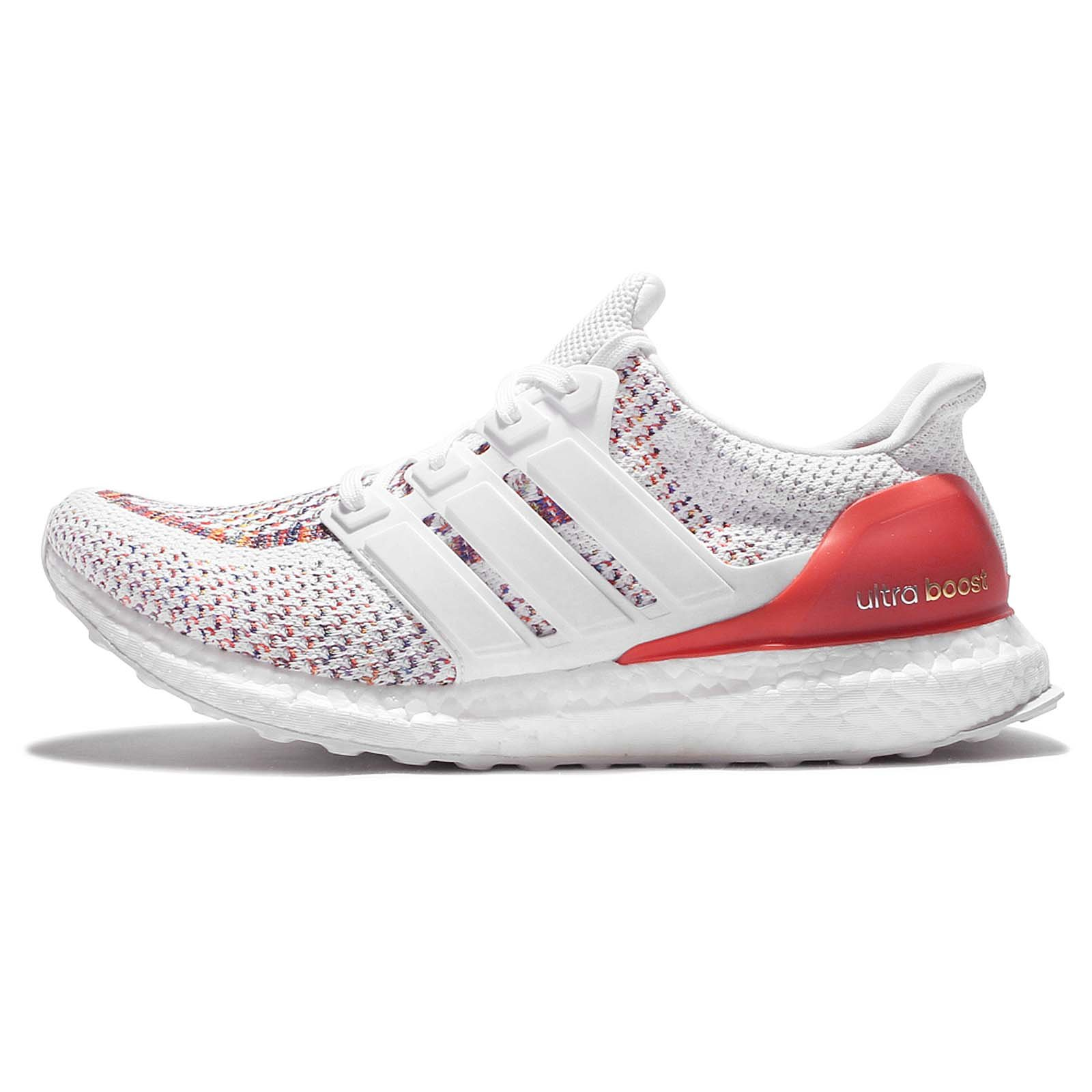 44bf22533ab90 adidas Men's Ultraboost M, White/RED, 8 M US