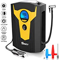 $23 » Skey Air Compressor Tire Inflator - Electric Auto Pump 12V DC Portable Air Compressor Pump…