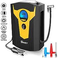 Skey Air Compressor Tire Inflator - Electric Auto Pump 12V DC Portable Air Compressor Pump… photo