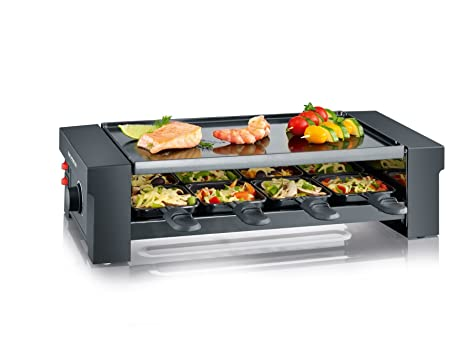 SEVERIN Pizza-Raclette Grill con Plancha Reversible, 1.150 W aprox., Incl.