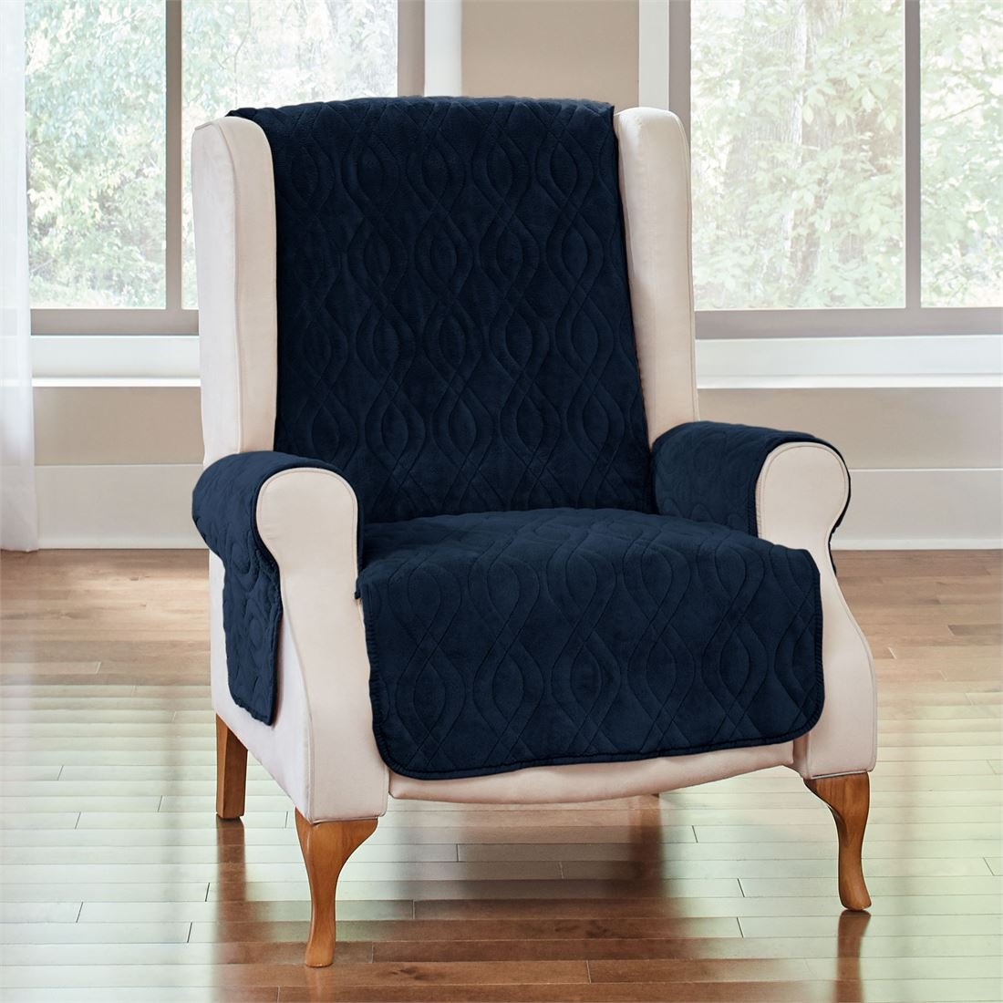 BrylaneHome Plush Ultimate Wing Chair Protector (Camel,0)