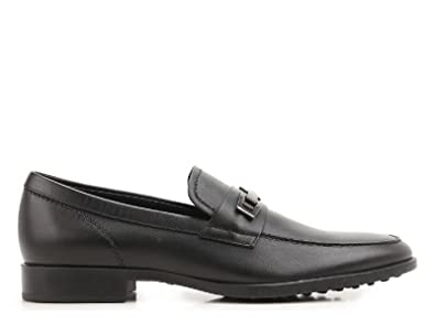 Men's XXM0VG0N650BR0B999 Black Leather Loafers
