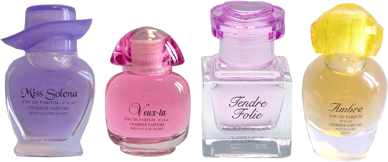 Charrier Parfums Mademoiselle France - Estuche de 4 Eau de Parfum en miniatura total 44,1 ml: Amazon.es: Belleza