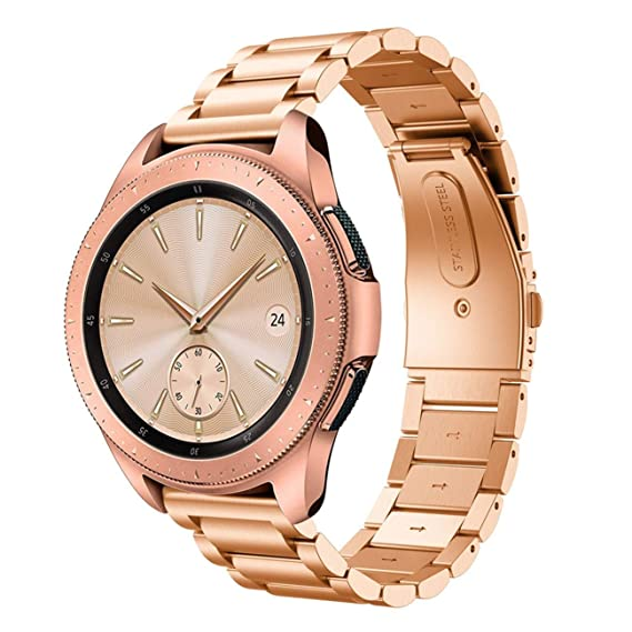 Hombre Mujer Reloj Correa De Repuesto De Acero Inoxidable De Lujo para Samsung Galaxy Watch 45Mm: Amazon.es: Relojes