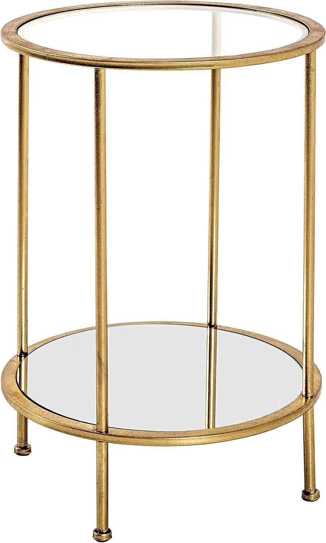Tubo in Acciaio /Ø 38 x 55 cm Gold Haku-M/öbel Tavolino Basso