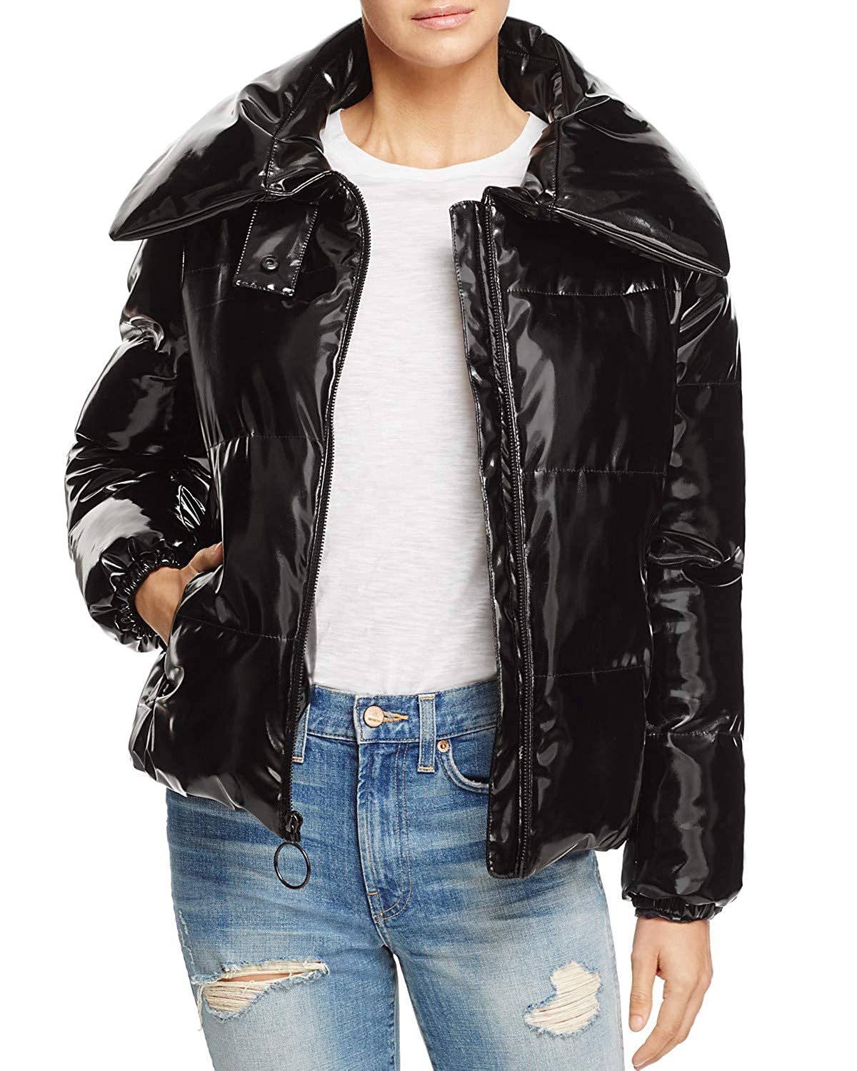 KENDALL + KYLIE Shiny Down Puffer Jacket Coat
