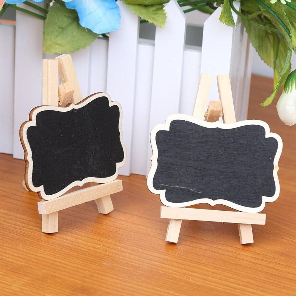 Pixnor Petits panneaux daffichage 10/cartes de placement en forme de tableaux noirs encadr/és avec chevalet en bois