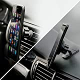 2-in-1 Magnetic Phone Car Mount, Universal Mobile Cell GPS Holder for Air Vent or Dashboard, Extra-Strong Magnet and Metal Plates, Fits Iphone X 8 7 6 5 Galaxy S8 S7 S6, LG V30 HTC One, Nokia Phones
