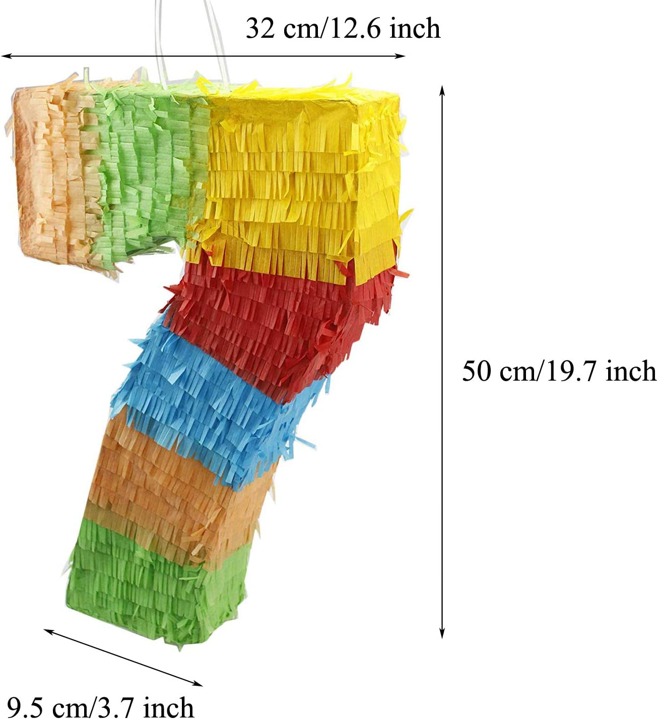 Eseewin Number Pinata with Plastic Stick and Eye Mask Mix Color Paper Accessiories Sweets Favours Decoration Ideal for Childrens Birthday Parties Fiestas and Celebrations(0)