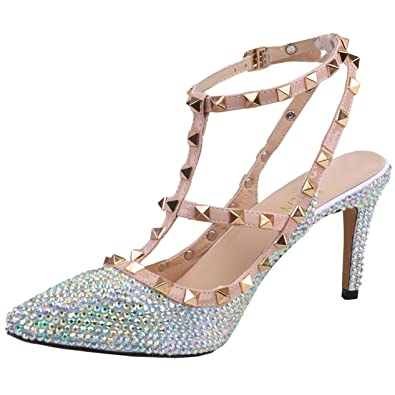 106c2549e44e SHOELIN Silver Heels-Rhinestone
