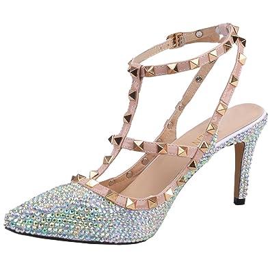 90f56bfcb6a SHOELIN Silver Heels-Rhinestone