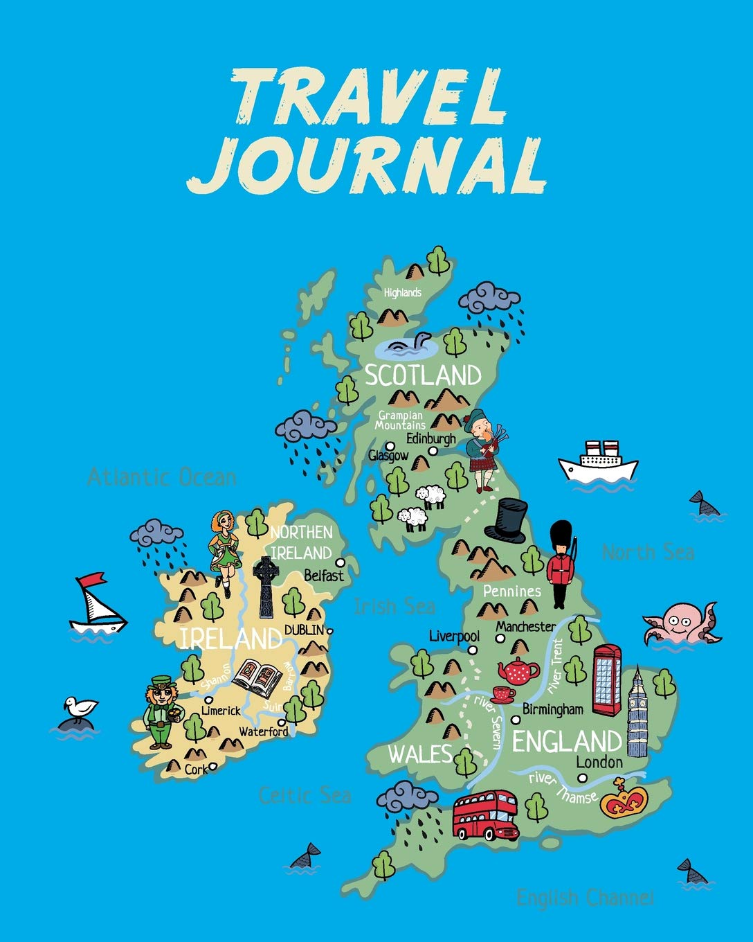 uk map for kids Travel Journal Map Of Uk And Ireland Kid S Travel Journal