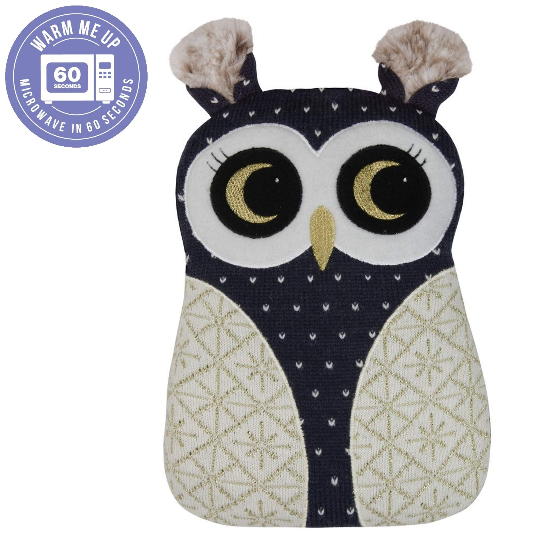 Aroma Home Knitted Hottie Microwavable Owl Heatable Hot Water Bottle by Aroma Home