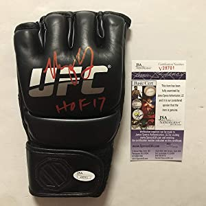 "Autographed/Signed Urijah Faber HOF 17"" Black UFC MMA Glove Ultimate Fighting JSA COA"