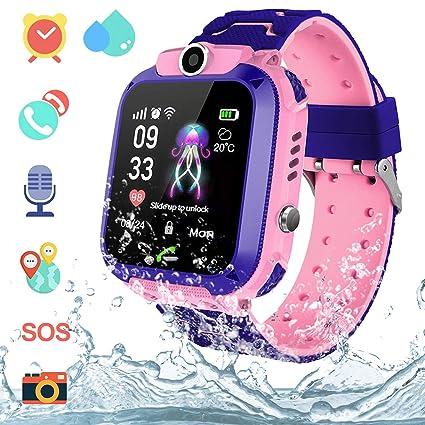 Amazon.com: Reloj inteligente para niños con GPS, resistente ...