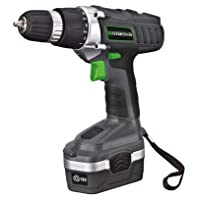 Genesis GCD18BK 18 Volt Cordless Variable Speed Drill/Driver Kit, Grey, 3/8-inch chuck with Hard Shell Carrying Case, 13 Bit Assortment, and Ni-Cad Battery Charger