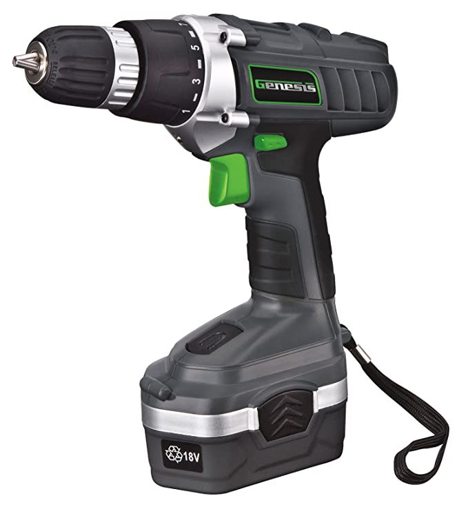 Genesis GCD18BK 18 Volt Drill Under $50