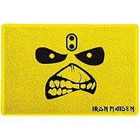 Capacho 60x40cm - Iron Maiden Eddie the Head, Amarelo