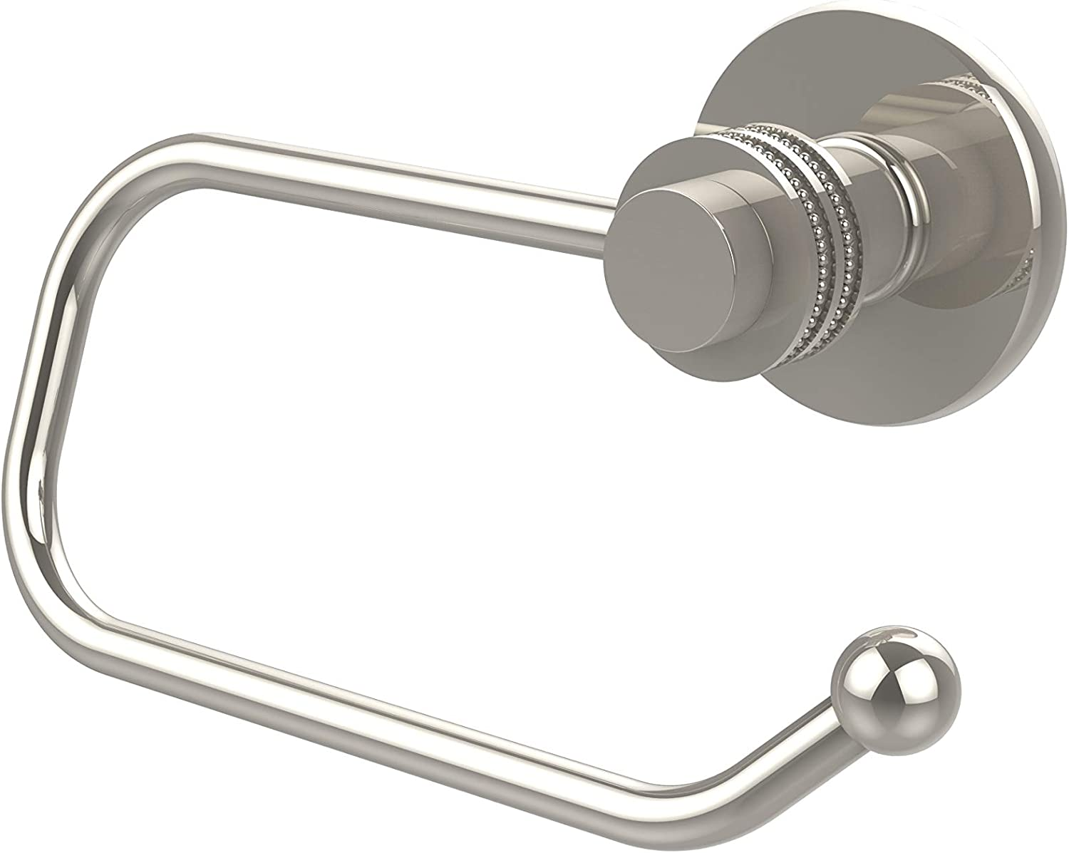 Polished Chrome Allied Brass 924ED-PC Mercury Collection Euro Style Tissue Dotted Accents Toilet Paper Holder