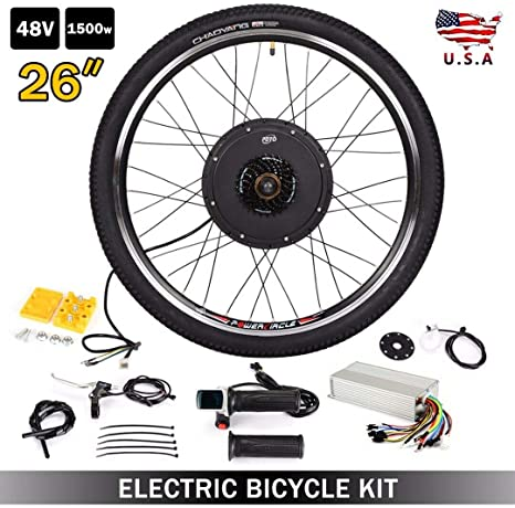 Balance world Inc - Kit de conversión de Motor eléctrico para Bicicleta (1500 W, 66 cm, 48 V): Amazon.es: Deportes y aire libre