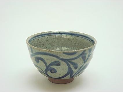 "tateyama-do Hasami Ware japonés arroz cuenco ""Tobe Karakusa azul fabricado"