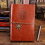 Leather Writing Journal Notebook, Vintage Nautical