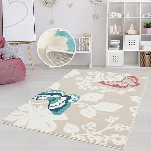 Kinderzimmer teppich mädchen  Amazon.de: Teppich Kinderzimmer Mädchen Jungen | Fröhliche ...