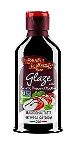 Monari Federzoni Glaze with Balsamic Vinegar of Modena, Ready to Use, Traditional Taste, 9.1 oz (Pack of 6)