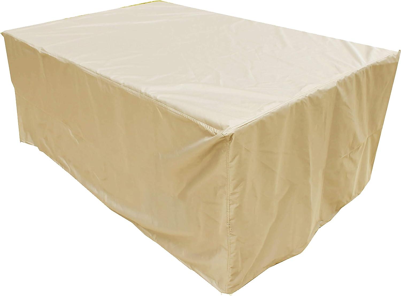 KaufPirat Premium Funda para Muebles de Jard/ín 210x90x90 cm Cubierta Impermeable Funda para Mesa para Mobiliario de Exterior Beige