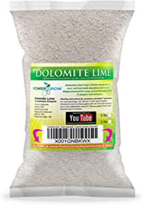 Dolomite Lime - Pure Dolomitic/Calcitic Garden Lime (5 Pounds)