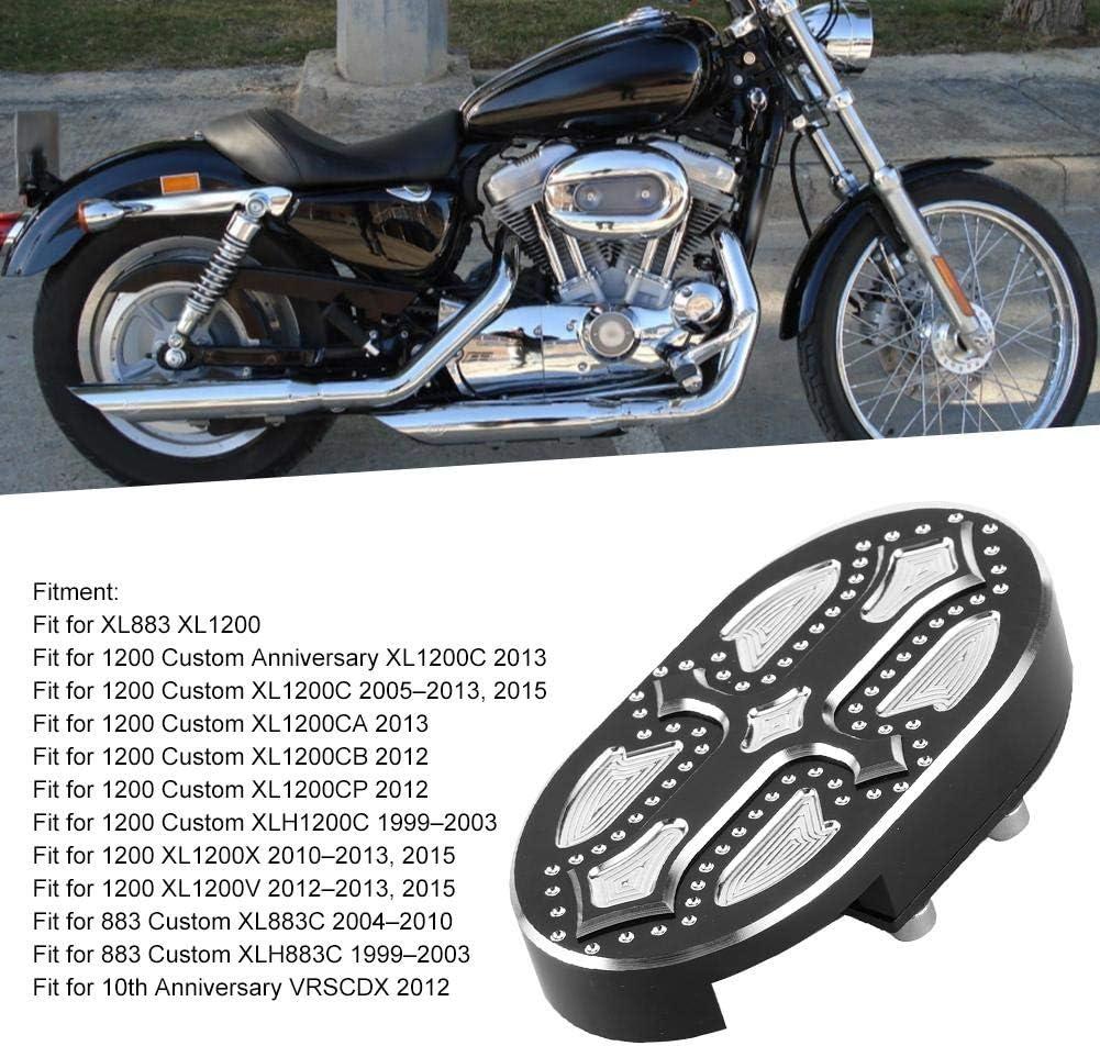 Couvercle de coussin de p/édale de frein en aluminium Dingln argent noir Style adapt/é pour XL883 XL1200 1999-2013