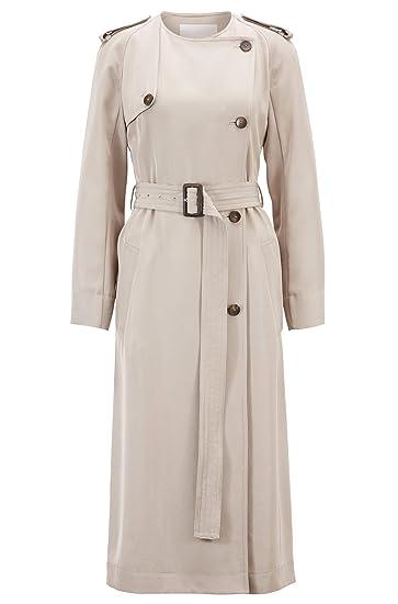 big sale 49359 91ac4 BOSS Damen Kleid Dayada im Trenchcoat-Stil aus japanischem ...
