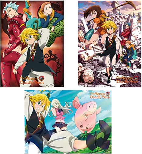 NEW The Seven 7 Deadly Sins Art Poster Anime TV Show 2020 11x17 13x19 17x25