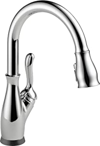 Delta Faucet Leland Single-Handle Touch Kitchen Sink Faucet with Pull Down Sprayer, Touch2O and ShieldSpray Technology, Magnetic Docking Spray Head, Chrome 9178T-DST