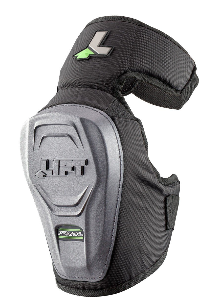 LIFT Safety Non-Marring Pivotal Knee Guard (Black, One Size)