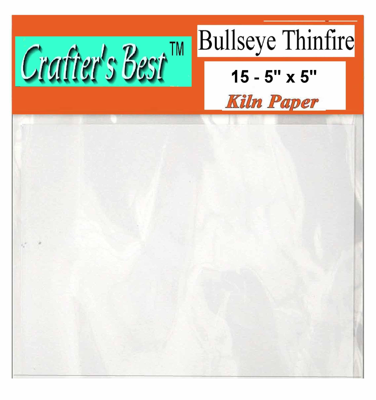 Bullseye Thinfire Kiln Shelf Paper 5'' X 5'', 15 Pack