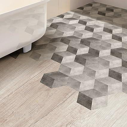 Amazon.com: VANCORE Hexagon Floor Tile Sticker Living Room ...