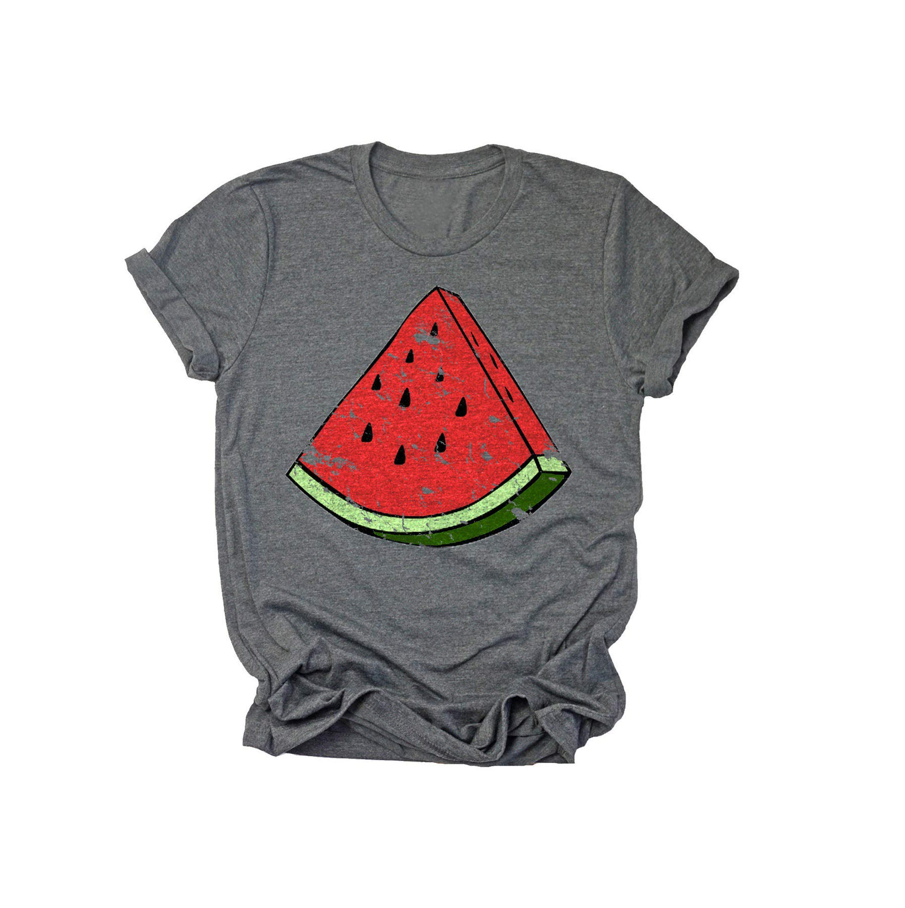 Watermelon T Shirt For Funny Letter Print Short Sleeve Tee Top