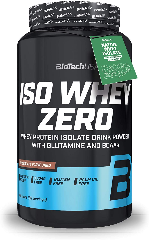 BioTechUSA Iso Whey ZERO, Lactose, Gluten, Sugar FREE, Whey Protein Isolate, 908 g, Chocolate
