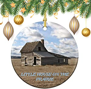 Christmas Ornaments, Little House On The Prairie Round Ornament Tree Hanging Decor Gift for Families Friends,3 Inch