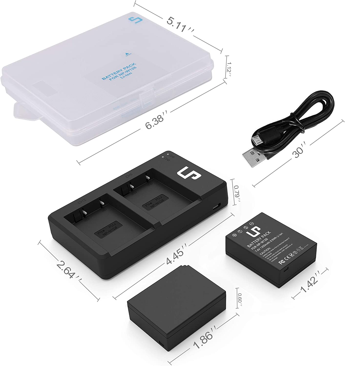 X-T100 X-A5 X-T10 LP NP-W126 NP W126S Battery Charger Pack X-H1 2-Pack Battery /& Dual Slot Charger X100F /&More X-Pro1 X-T20 Compatible with Fujifilm FinePix X-T3 X-T2 X-T30 X-A7