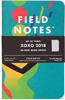product image for Field Notes: XOXO 2018-3 Pack - Graph Memo Book, 3.5 x 5.5 Inch