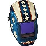Jackson Safety TrueSight II Digital Auto Darkening Welding Helmet with Balder Technology (46118), HLX, ADF, Stars & Scars Graphic