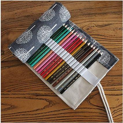 XIAOXINYUAN Creative 36/48/72 Hoyos De Estilo Étnico Estuche Papelería Canvas Roll Up Pen Bolsa Regalo Papelería Lápices De Cortina De 36 Hoyos: Amazon.es: Oficina y papelería