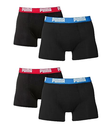 Puma - Calzoncillo - para Hombre Schwarz/Red/Blue (505) XXL