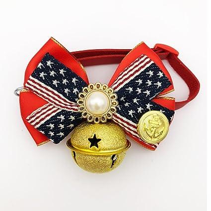 pet supplies petfavorites american flag dog cat collar bow tie