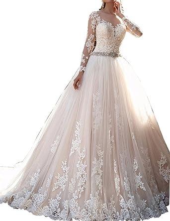 Kevins Bridal Vintage Lace Wedding Dresses 2017 Long Sleeves ...